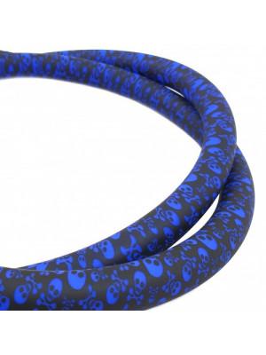>Шланг силиконовый Garden софт тач череп синий