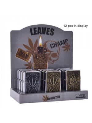 Зажигалка Champ   Zippo with Leaf logo's