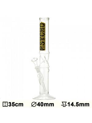 >Бонг стеклянный Glass Psycho - H:35 - ?:40mm- Socket:14.5mm