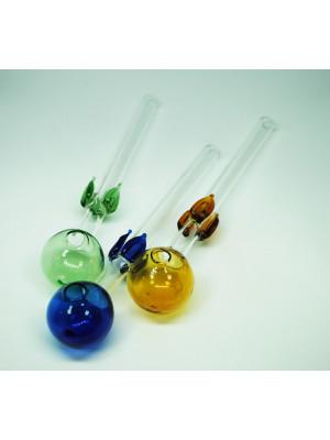 Стеклянная трубка для курения Oil Leaf