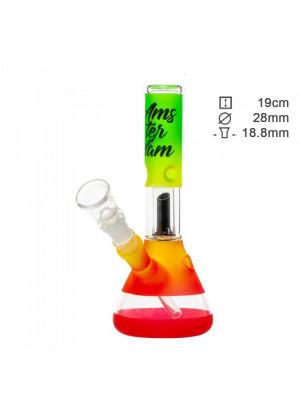 Бонг скляний Amsterdam RASTA CLUB Mini - H: 19cm-?: 28mm