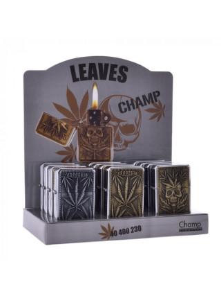 >Зажигалка Champ   Zippo with Leaf loGo's