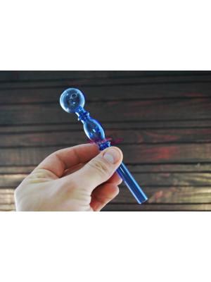 Стеклянная трубка для курения Oil Bubble Blue