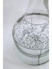 >>Колба для кальяна 2x2 Карма (Karma) прозрачная красивая дизайнерская роспись