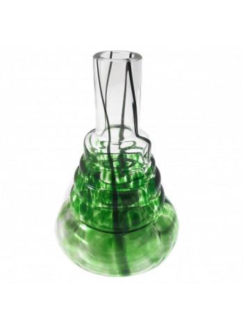 >>Колба для кальяна Amy под резьбу зеленая с разводами