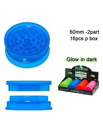 Гріндер акриловий 2 part Glows in the Dark