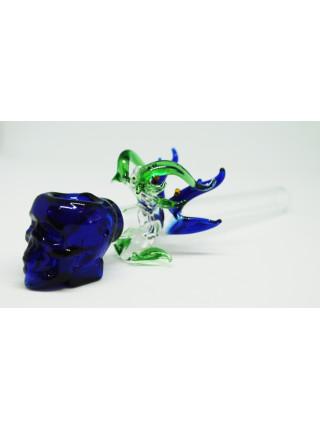 Стеклянная трубка для курения Dragon Skull